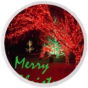 Round Beach Towel featuring the photograph Merry Christmas by Darren Robinson