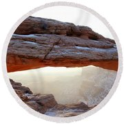 Mesa Arch Looking North Round Beach Towel