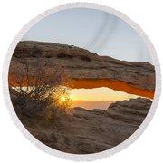 Mesa Arch Sunrise 3 - Canyonlands National Park - Moab Utah Round Beach Towel