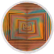 Mesmer Realized Round Beach Towel