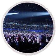 Mesmerized Pearl Jam Crowd Round Beach Towel