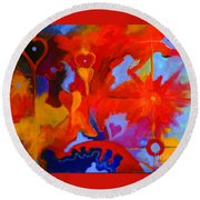 Message Of Love Round Beach Towel