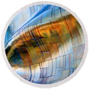 Metal Wave Round Beach Towel