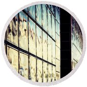 Round Beach Towel featuring the photograph Metallic Reflections by Melanie Lankford Photography
