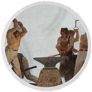 Metallurgy Round Beach Towel
