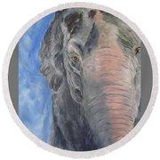 The Elder, Methai An Elephant Round Beach Towel