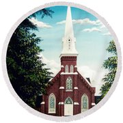 Methodist Church Round Beach Towel