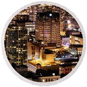 Round Beach Towel featuring the photograph Metropolis Vancouver Mdccxv  by Amyn Nasser