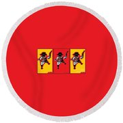 Feista Round Beach Towel