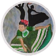 Mexican Hat Dance Round Beach Towel