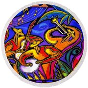 Latin Music Round Beach Towel