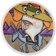 Mexican Tooth Round Beach Towel
