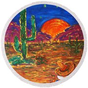 Mexico Impression IIi Round Beach Towel