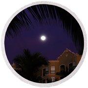 Mexico Moon Round Beach Towel