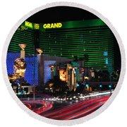 Mgm Grand Hotel And Casino Round Beach Towel