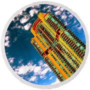 Miami South Pointe Highrise Round Beach Towel
