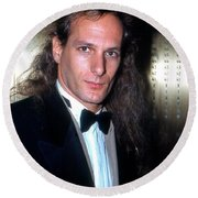 Michael Bolton 1990 Round Beach Towel by Ed Weidman