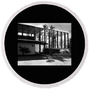 Michael Heller's Home In Miami Round Beach Towel
