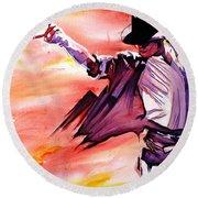 Michael Jackson-billie Jean Round Beach Towel