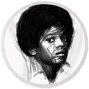 Michael Jackson- The Early Years Round Beach Towel