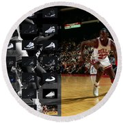 Michael Jordan Shoes Round Beach Towel