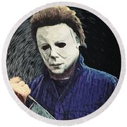 Michael Myers  Round Beach Towel