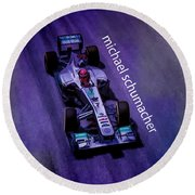 Michael Schumacher Round Beach Towel