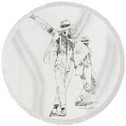 Michael Smooth Criminal Round Beach Towel