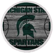 Michigan State Spartans Round Beach Towel