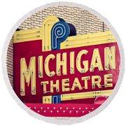 Michigan Theatre 2 Round Beach Towel
