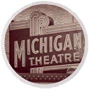 Michigan Theatre Round Beach Towel
