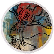 Mickey Mouse Sketchy Hello Round Beach Towel