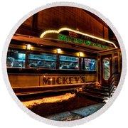 Mickey's Diner St Paul Round Beach Towel