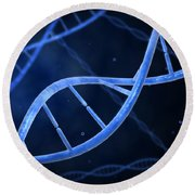 Microscopic View Of Dna Round Beach Towel