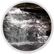 Middle Chapel Brook Falls Round Beach Towel