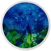 Midnight Angel Round Beach Towel