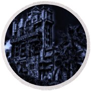 Midnight At The Tower Of Terror Round Beach Towel