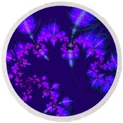 Midnight Blossoms Round Beach Towel
