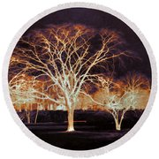 Round Beach Towel featuring the photograph Midnight Glow by Shawna Rowe
