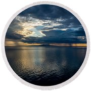 Midnight Majesty Round Beach Towel