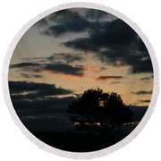 Round Beach Towel featuring the photograph Farm Pasture Midnight Sun  by Neal Eslinger