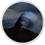 Midnight Swim Round Beach Towel by Joe Schofield