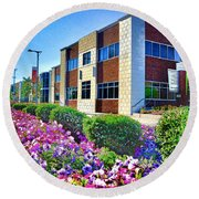 Round Beach Towel featuring the photograph Geis Midtown Tech Park - Cleveland Ohio by Mark Madere