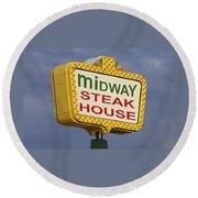 Midway Seaside Heights Boardwalk Nj Round Beach Towel