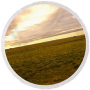 Midwest Slanted Round Beach Towel