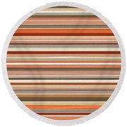 Midwestern Flair Round Beach Towel by Lourry Legarde