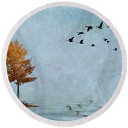 Migration Round Beach Towel