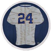 Miguel Cabrera Detroit Tigers Baseball Team Jersey License Plate Art Round Beach Towel