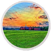 Milan First United Methodist Church Round Beach Towel