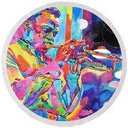 Miles Davis Bebop Round Beach Towel